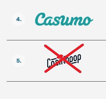 Casumo tar över stafettpinnen från Casinopop!