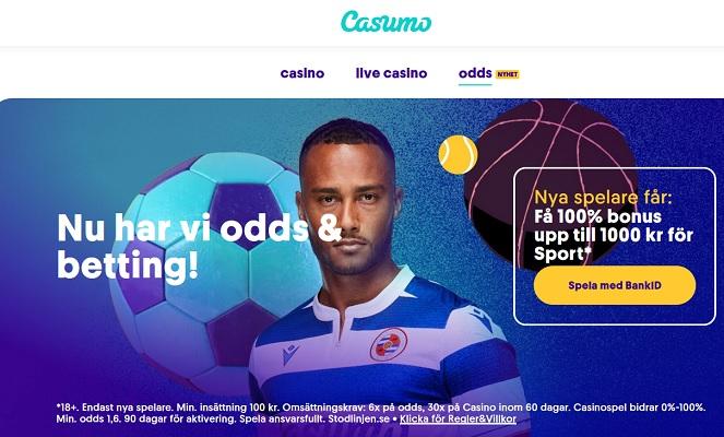 Betta på Casumo Casino nu!