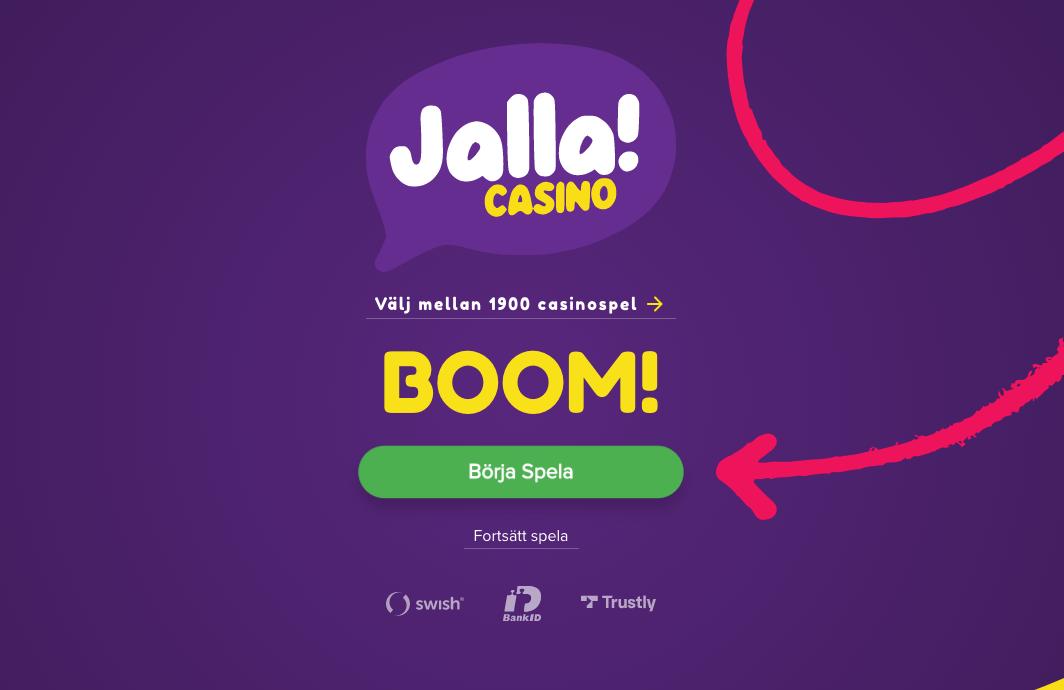 Jalla casino skärmdump